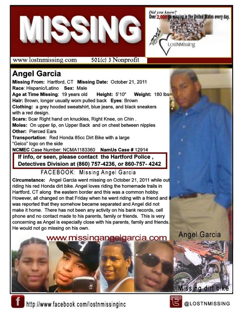 Angel Garcia Missing From Connecticut Since 2011