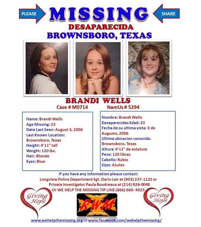 Brandi Wells Missing Texas