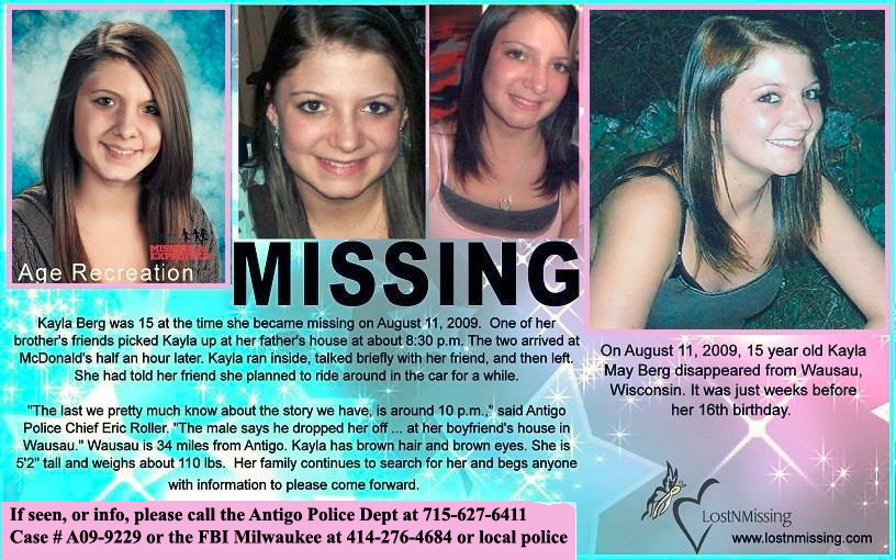Kayla Berg Missing from Wisconsin