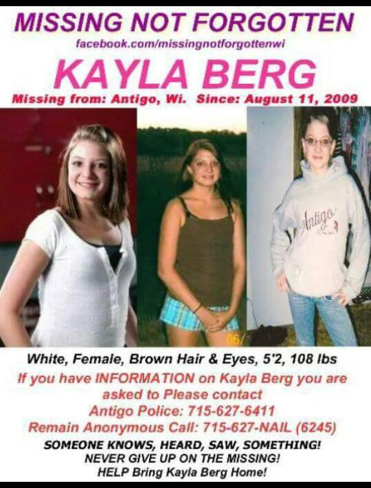 Kayla Berg Disappeared Wisconsin