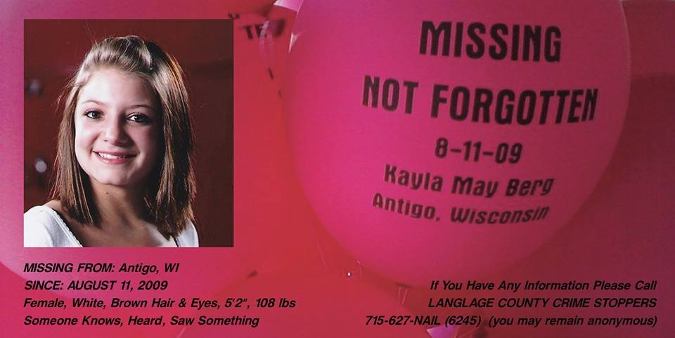 Kayla Berg Missing from Wisconsin Disappeared Season 8