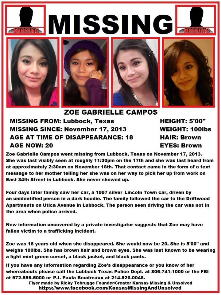 Zoe Campos Missing Disappeared Season 8
