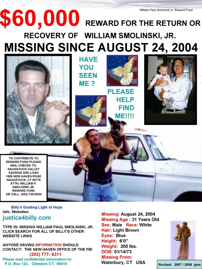 Billy Smolinski Missing Flyer