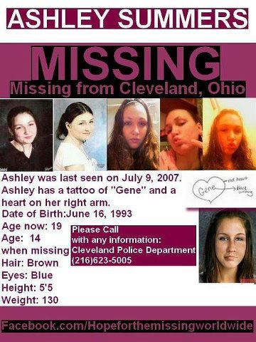 Ashley Summers Disappeared Ohio 2007