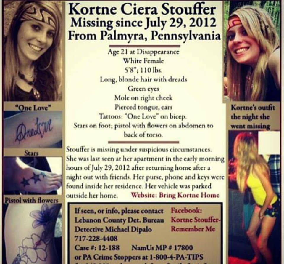 Kortne Stouffer Missing Pennsylvania