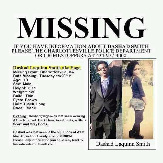 Dashad Smith Missing Virginia Sage Smith