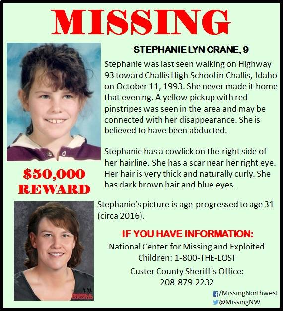 Stephanie Lyn Crane Missing Idaho
