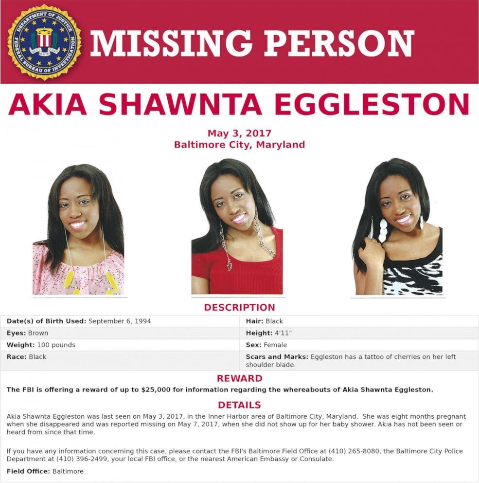 Akia Eggleston Missing Baltimore 2017