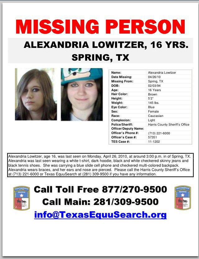 Ali Lowitzer Missing Texas