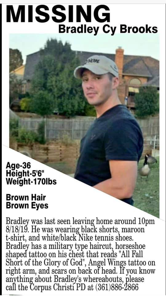 Bradley Brooks Missing Texas