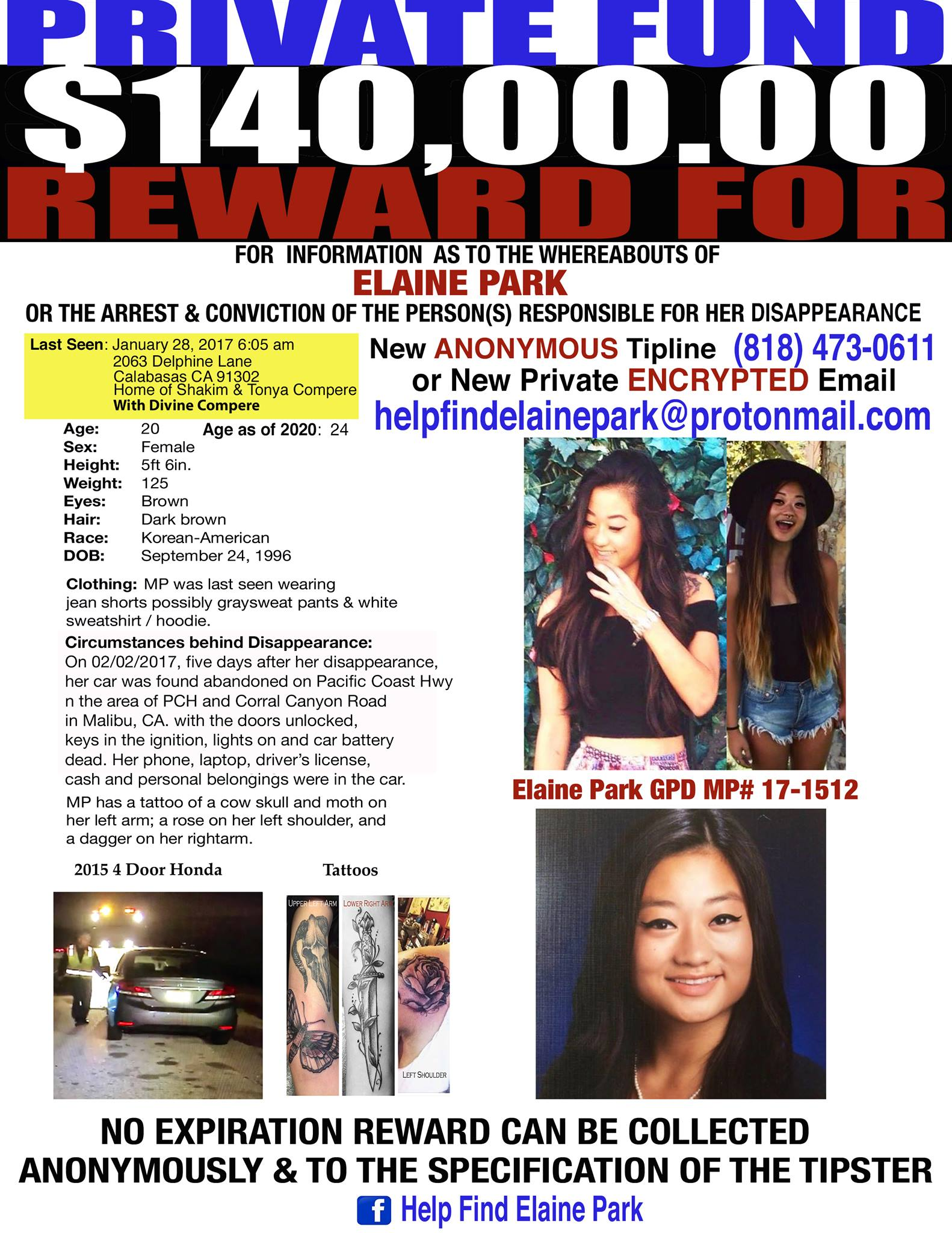 Elaine Park Missing From California Since 2017