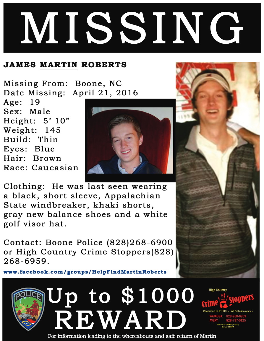 James Martin Robers Missing Person