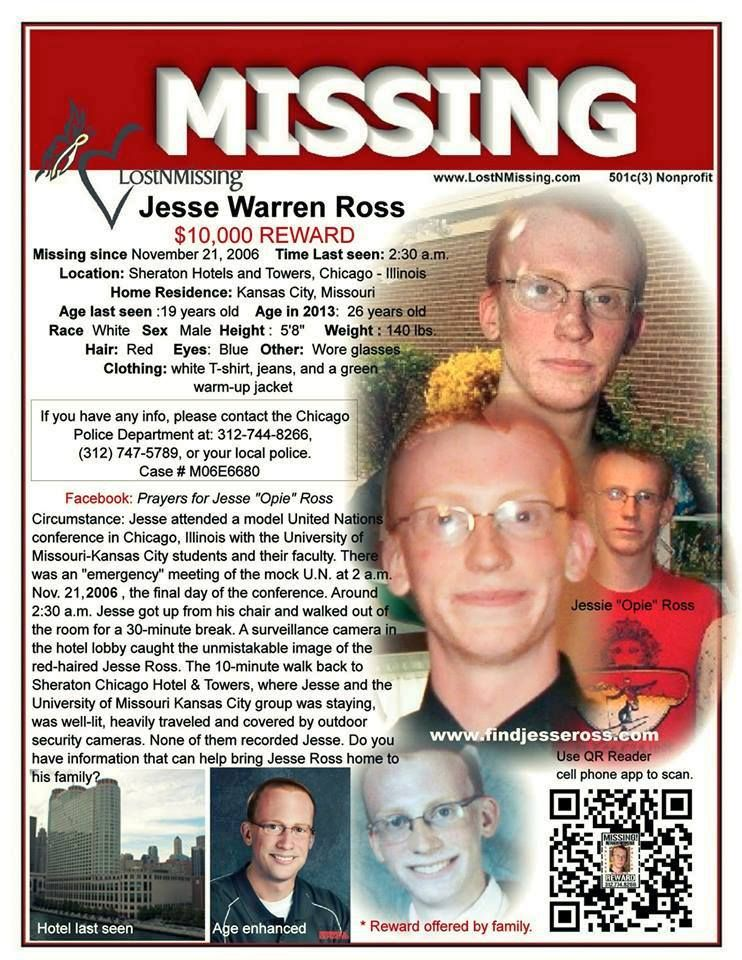 Jesse Ross Missing from Chicago 2006