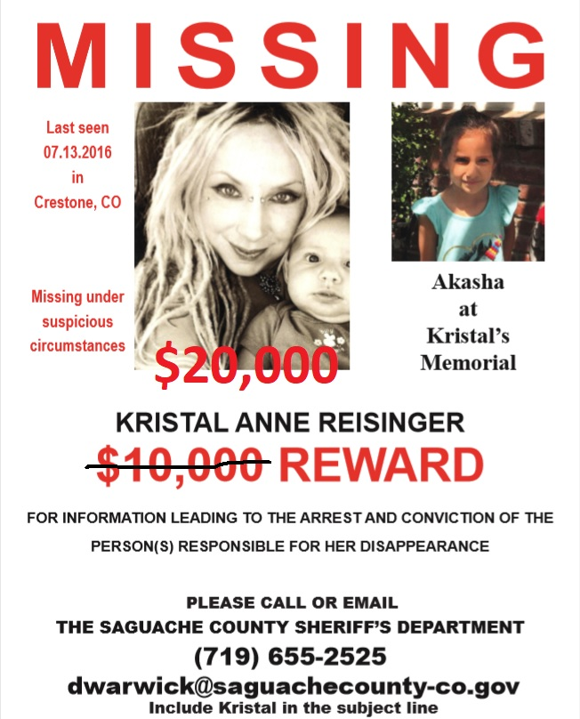 Kristal Reisinger missing from Colorado