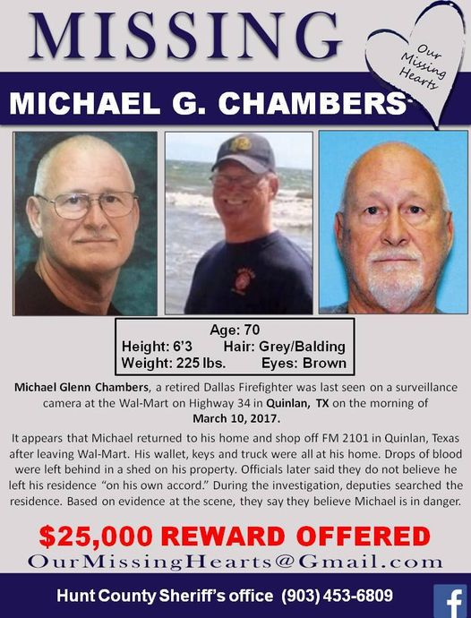 Michael Paw Paw Chambers missing Texas