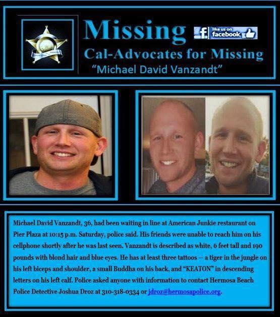 Mihcael David Vanzandt Missing