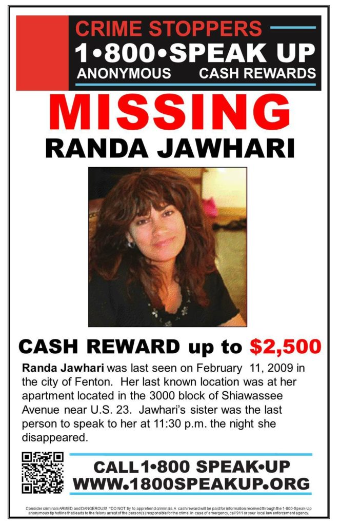 Randa Jawhari Missing from Fenton Michigan