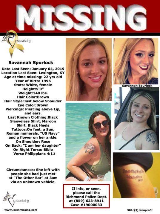 Savannah Spurlock Missing