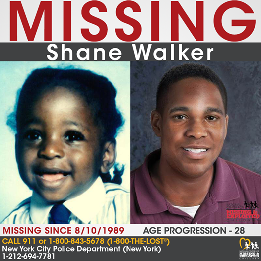 Shane Walker Missing New York 1989