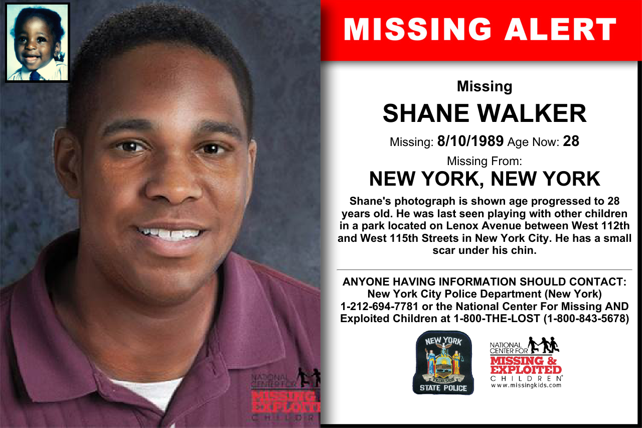 Shane Walker 19 month old missing since 1989