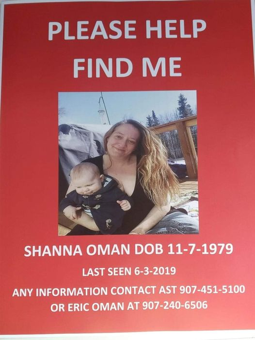 Shanna Oman Missing Alaska 2019