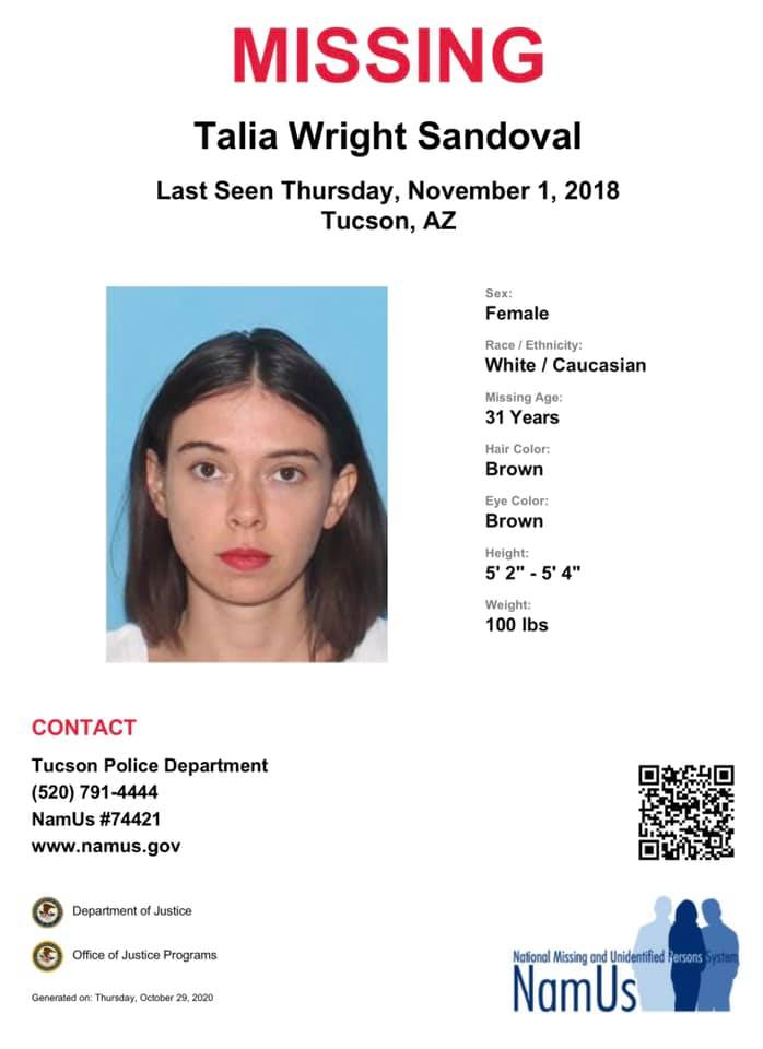 Talia Sandoval Missing Arizona 2018