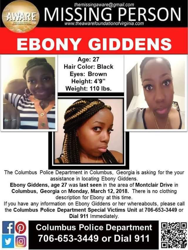 Ebony Giddens Missing Georgia
