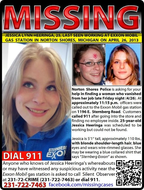 Jessica Heeringa Missing Person Flyer