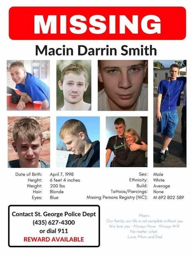 Macin Smith Missing Person Utah 2015
