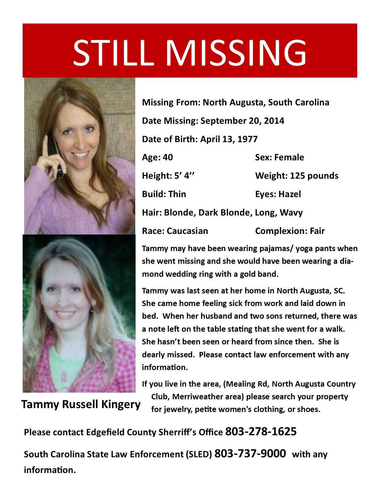 Tammy Kingery Missing 2014