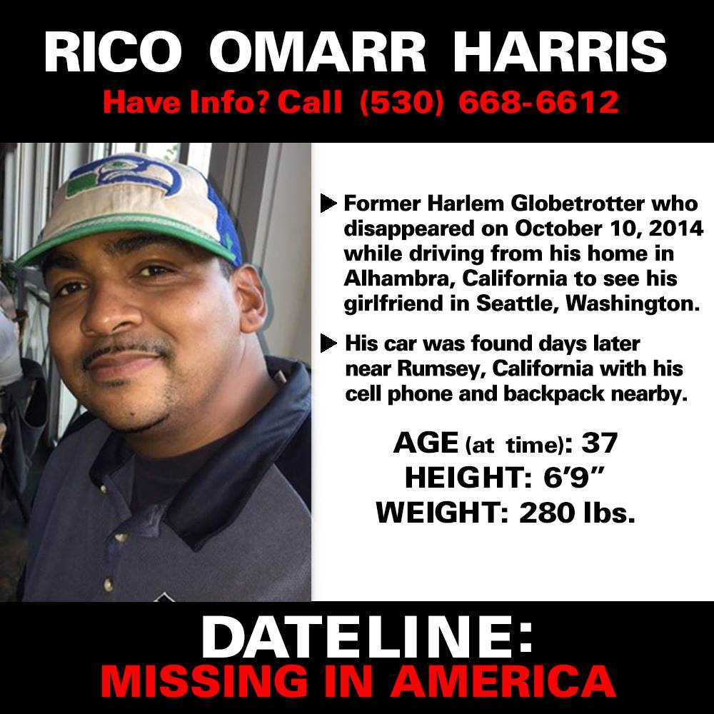 Rico Harris Missing Person
