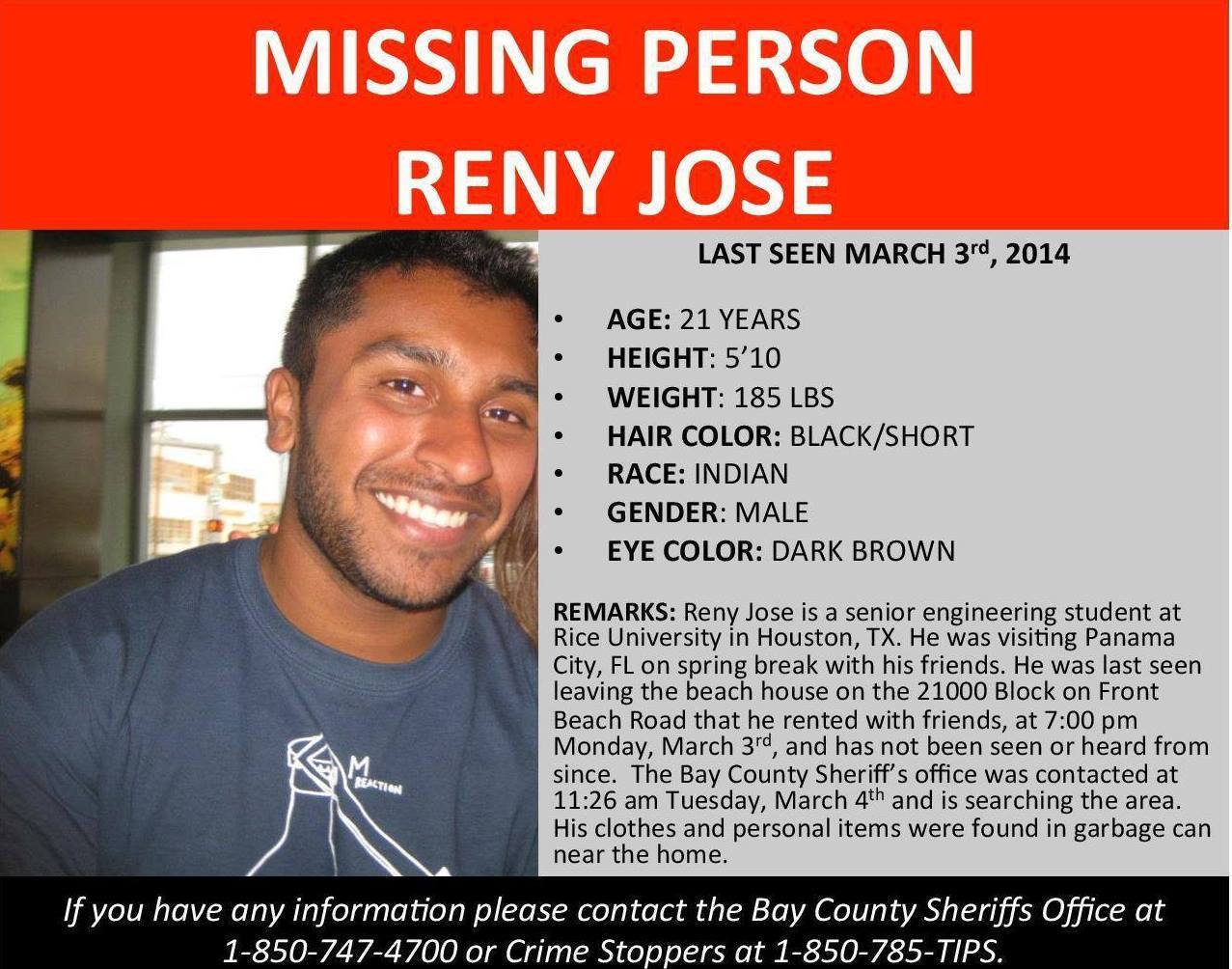 Reny Jose Missing Person