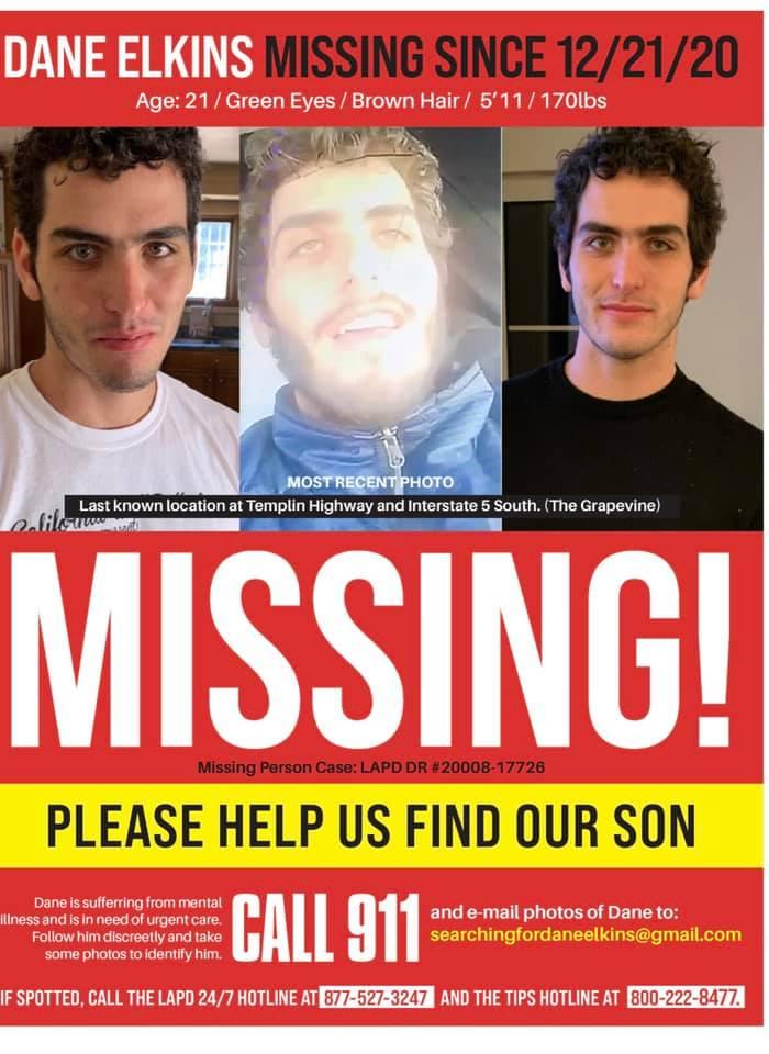 Dame Elkins Missing Person Flyer