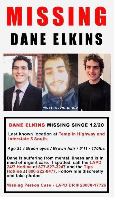 Dane Elkins Missing