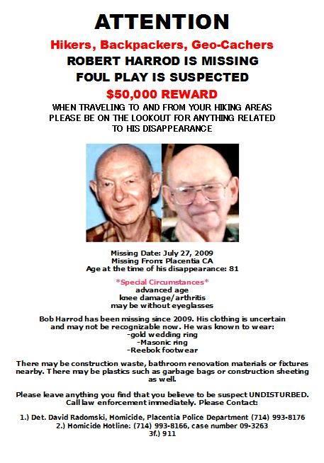 Robert Harrod Missing Person Flyer