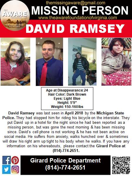 David Ramsey Missing Person Flyer