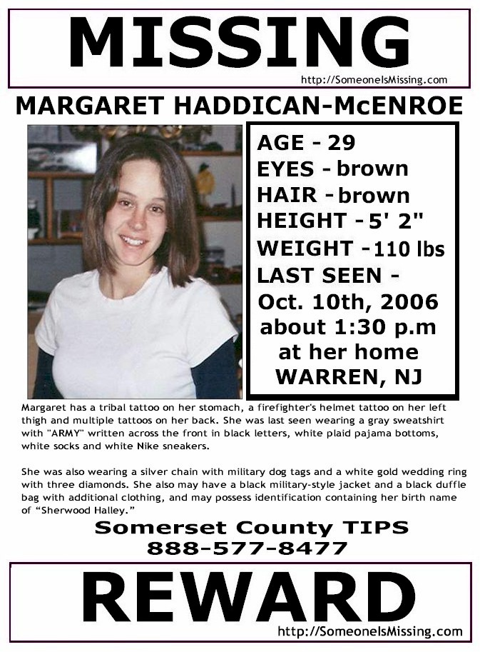 Margaret McEnroe Missing Flyer