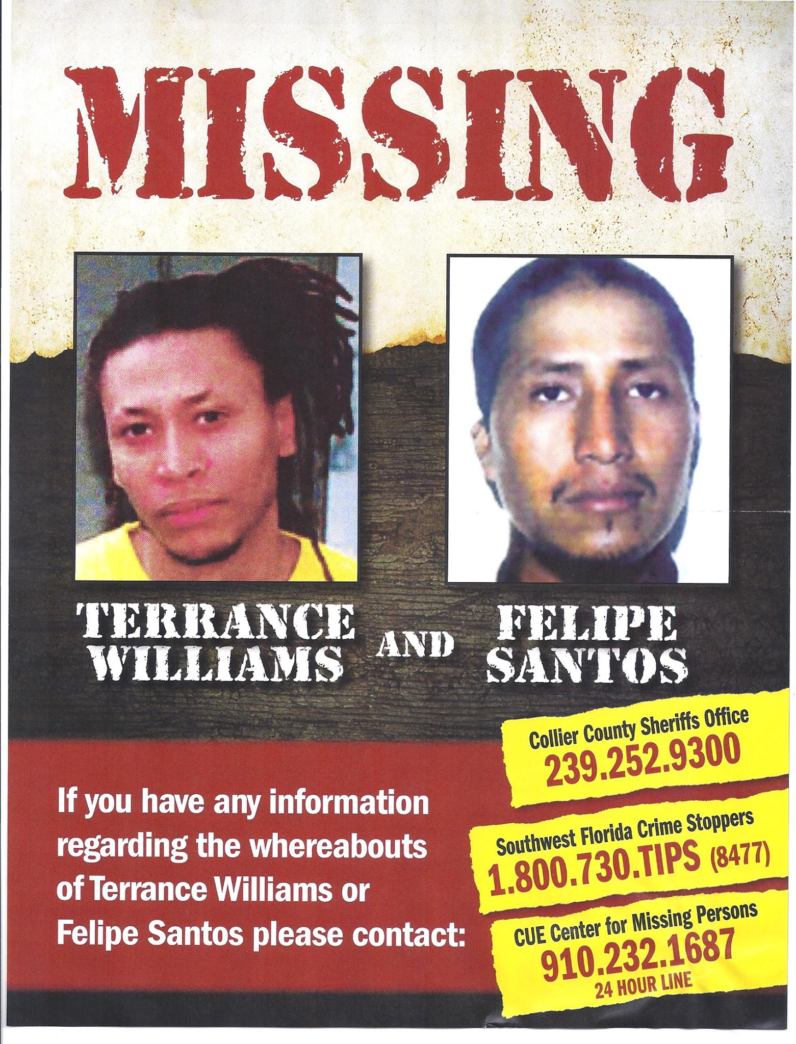 Terrance Williams & Felipe Santos Missing Person