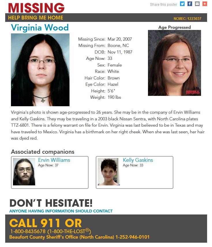 Virginia Wood Missing