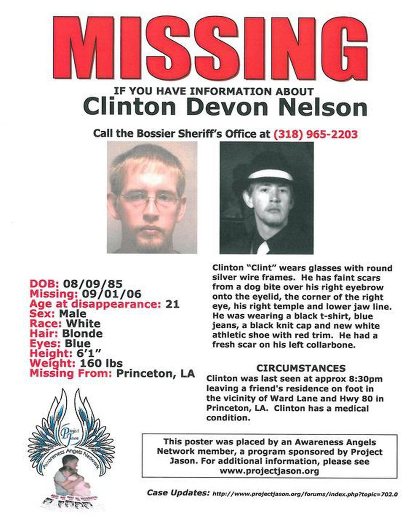 Clinton Nelson Disappeared