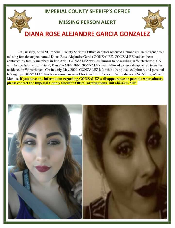 Diana Rose Alejandre Missing Flyer
