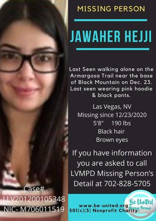 Jawaher Hejji Missing Persons Flyer