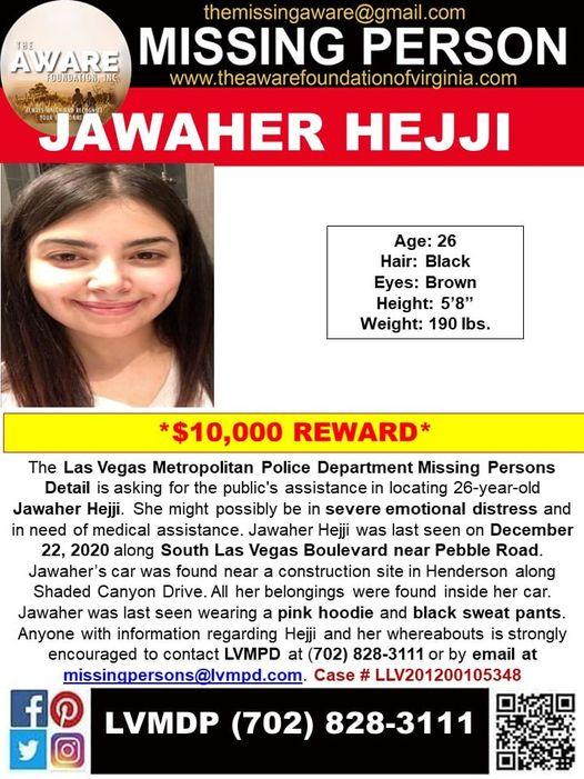 Missing Person Jawaher Hejji