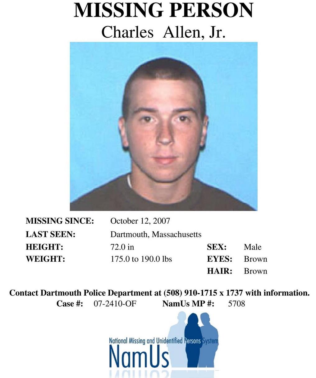 Charles Allen Jr aka Neo Maximus Missing Flyer