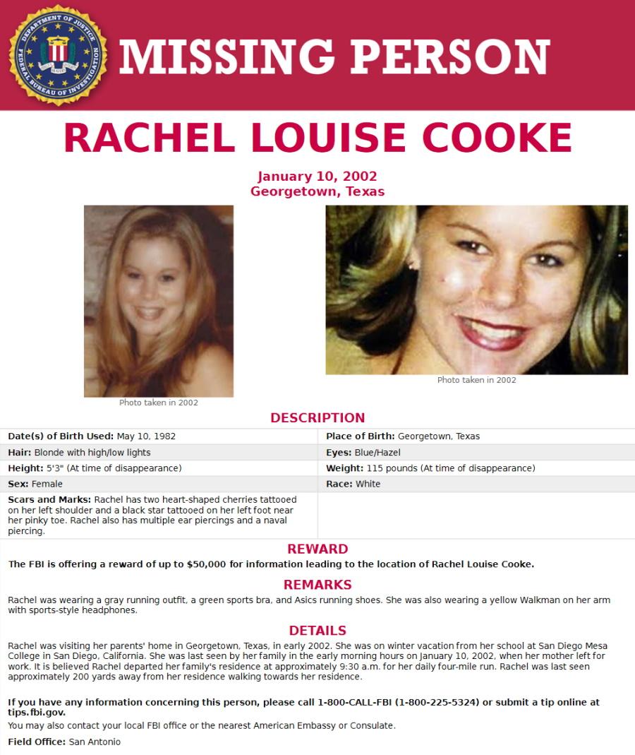 Rachel Cooke Texas Missing Person