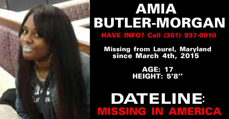 Amia Butler-Morgan Missing
