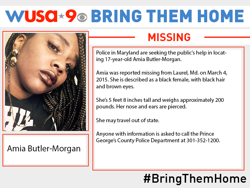 Amia Butler-Morgan Missing Maryland