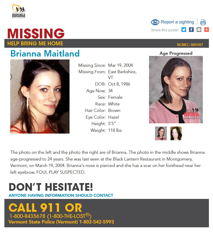 Brianna Maitland Disappeared