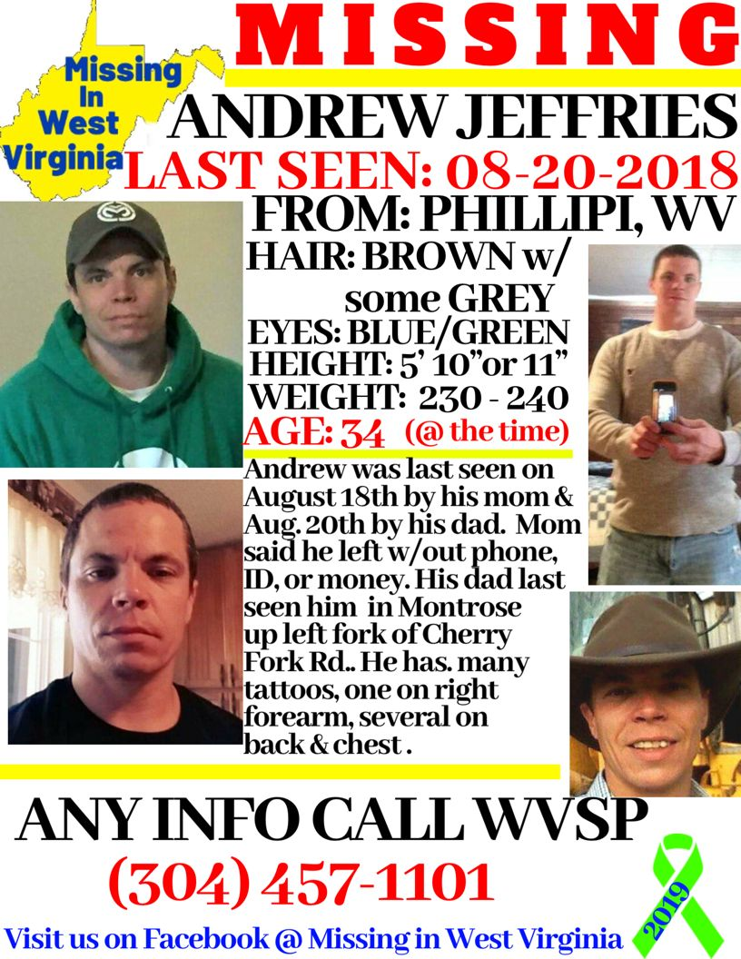 Andrew Jeffries West Virginia missing