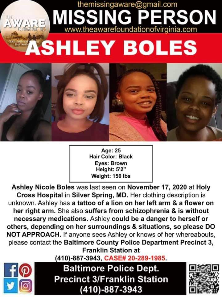 Ashley Boles Unsolved missing person